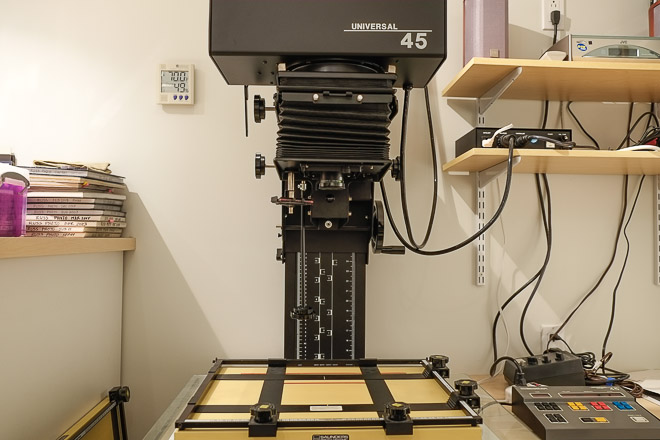 Our Beseler 45 VXL Enlarger Front View We Use Saunders Easels